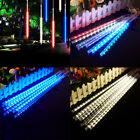 30cm 192 LED Meteor Shower Lights 8 Tubes Falling Rain Icicle Xmas Party Outdoor