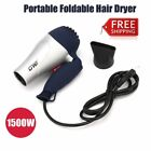 Mini Foldable Hair Blow Dryer Low Noise Traveller Compact Blower EU Plug 220V Ud