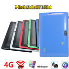 Tablet 7-Inch Android Tablet 4GB ROM Quad Core 4.4 Dual Camera Bluetooth Tablet