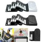 Portable 49-Key Flexible Silicone Roll Up Piano Folding Electronic Keyboard Gift