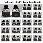 Embroidered NFL Pom Pom Skull Beanie Cap Winter Warm Football Hat Pick All Team $12.99 USD on eBay