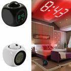 Projection Alarm Clock with LCD Digital Data Time Voice Talking Temperature