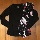 NWT JUSTICE GIRLS SIZE 8 10 12 14/16 OUTFIT~BLK TEE & SPLATTER PRINT LEGGINGS