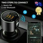 Handsfree Wireless Bluetooth Car Kit Fm Transmitter Usb Charger Radio Mp3 Player