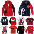 Kids Baby Boys Spiderman Hoodies Sweater T Shirt Tops Sweatshirt Hooded Coat Tee