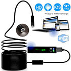 HD Waterproof WiFi Endoscope Inspection 8 LED Camera iPhone Android PC iPad UK