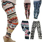 1-Women Fleece Lined Thick Legging Winter Soft Warm Xmas Christmas Pant Trousers