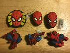 SPIDERMAN MASK CRAWLING LEAPING ATTACK AUTHENTIC JIBBITZ SHOE CHARM FIT CROCS