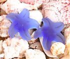 PICK COLOR 1pc 32mm Blue Starfish Button Pendant Sea Glass frosted Bead recycled