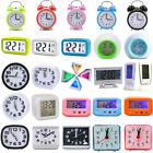 New Portable Time Digital Clock Snooze Home Bedroom Battery Alarm Clock Operated