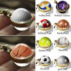Retro Double Sided Glass Ball Classic Sports Necklace Pendant Women Men Jewelry $3.98 AUD on eBay