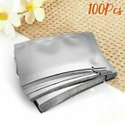Pure 100Pcs Silver Aluminum Bag Silver Mylar Heat Sealed Vacuum Food Grade Stora
