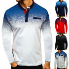 New Shirts Mens Long Sleeve Muscle T Shirt Golf Casual Pullover Basic Tee Tops