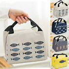 Portable Adult Kids Lunch Bag Zipper Cooler Thermal Insulated UK Bag Picnic Tote