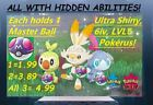 Pokemon Sword And Shield Shiny Starter Scorbunny,Grookey, Sobble +MASTER BALL ! $7.99 USD on eBay