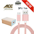 OEM Samsung Galaxy S10 S8 S9 Plus Fast Wall Charger 3/6/10 FT USB-C Type-C Cable