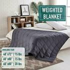 Kyпить Weighted Blanket Reduce Stress Full Queen king Promote Deep Sleep Glass Beads на еВаy.соm