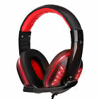For Xbox One PS4 Nintendo Switch 3.5mm Wired Gaming Headset LED Headphone w/Mic