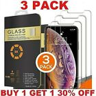 3 Pack iPhone 11 XR X XS Max 11 Pro Max 8 7 6 Screen Protector Tempered GLASS
