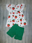 NEW Boutique Strawberry Tunic Ruffle Shorts Girls Outfit 3T 4T 6 7 7 8