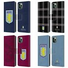 ASTON VILLA FOOTBALL CLUB CREST LEATHER BOOK WALLET CASE FOR APPLE iPHONE PHONES