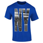 50% OFF SALE - Mens New York City Skyline Photo NY Letters T-shirt