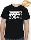 18th BIRTHDAY T-shirt MADE IN 2002 / All British Parts / Royal Crown / All Sizes