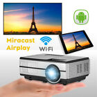 Andriod Blue-tooth Projector 1080P Multimedia HD LED Video Home Theater Backyard