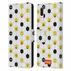OFFICIAL emoji® FOOTBALL LEATHER BOOK WALLET CASE COVER FOR HUAWEI PHONES