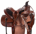 USED 12 13 14 LEATHER TRAIL PLEASURE HORSE WESTERN RANCH ROPING SADDLE TACK SET