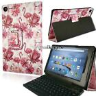 For Amazon Kindle Fire HD 10 Alexa Leather Stand Cover Case + Bluetooth Keyboard