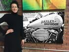Gas Tank Harley Davidson Cotton Canvas Print Huge Ready to Hang Wall Art Decor $62.0 USD on eBay