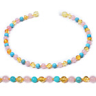 Kyпить Natural Healing Baltic Ambers Baby Teething Necklace with Real Pink Quartz / Tur на еВаy.соm