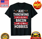 Axe Throwing Funny Hatchet Lumberjack Hobby Gift Tshirt Vintage Men Gift Tee