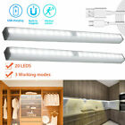 20 LED USB Rechargeable Wireless PIR Motion Sensor Closet Cabinet Night Light US