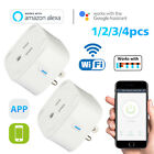 2/4pcs Smart WiFi Plug Outlet Swtich work with Echo Alexa Google Home APP Remote