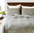 Microfiber Reversible Quilt Set with Shams 3Pcs, Queen/King Size All Season image