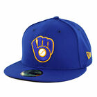 New Era 59Fifty Milwaukee Brewers ALT 2019 Fitted Hat (Royal Blue) MLB Cap on Ebay