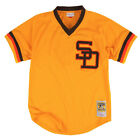 """Mitchell & Ness San Diego Padres """"Authentic Mesh 1982"""" Jersey (Gold) MLB Shirt"""