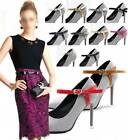 Detachable PU Leather Shoe Straps Laces Band For Holding Loose High Heeled Shoes