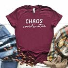 Ladies Colored T-Shirts Chaos Coordinator Funny Letters Print Shorts Sleeve Tops