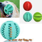 NE_ KQ_ Dog Chew Training Rubber Ball Tooth Cleaning Toy Treats Teeth Grinding
