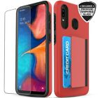 For Galaxy A10e / Galaxy A50 A30 A20 Case, Shockproof Case with Card Holder Slot