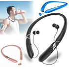 Bluetooth 5.0 Neckband Headset Wireless Stereo Earphone Headphone Mic For Phones