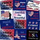 Patriotic Photo Booth Props - 4th of July, Memorial Day, Veterans Day Signs - 12