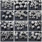 50pcs Tibetan Silver Metal Loose Spacer Craft Beads lot Wholesale Jewelry Making