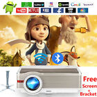 LED HD Video Android WiFi Projector 1080P BT Wireless HDMI USB Backyard Movie
