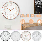 12In Color 12H Wall Clock Super Silent Non Ticking Quartz Battery Operated-US