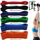 Rubber Resistance Band Fitness Gym Pull Rope Workout Elastic Training Bands US image
