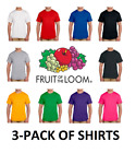 Kyпить Fruit of the Loom 3-Pack T-Shirts - All Colors - FREE SHIPPING 100% Cotton 3930+ на еВаy.соm